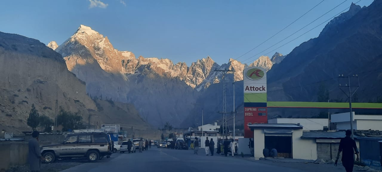 Sost Border town in evening