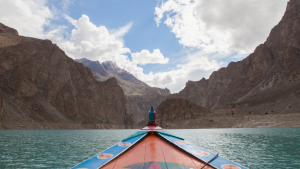 Traditional Boat in Attabad Lake - Rozefstourism.com