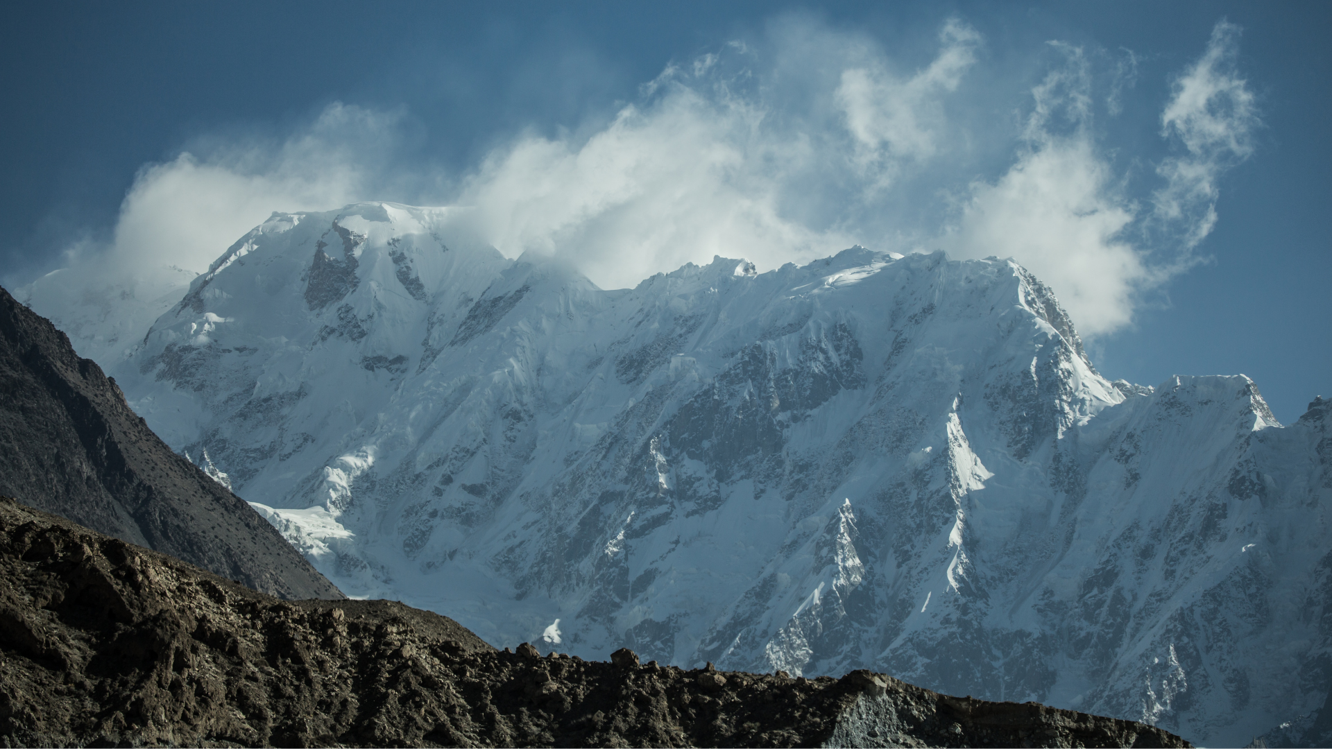 On the way from Minapin to Rakaposhi with a nice view - Rozefstourism