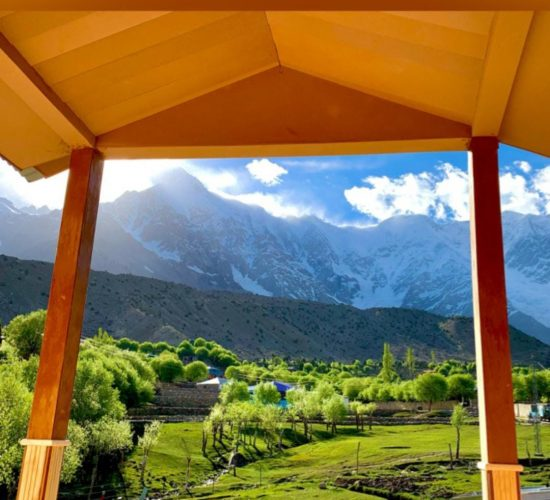 Nanga Parbat view from hotel in Rupal Valley Astore - Rozefstourism