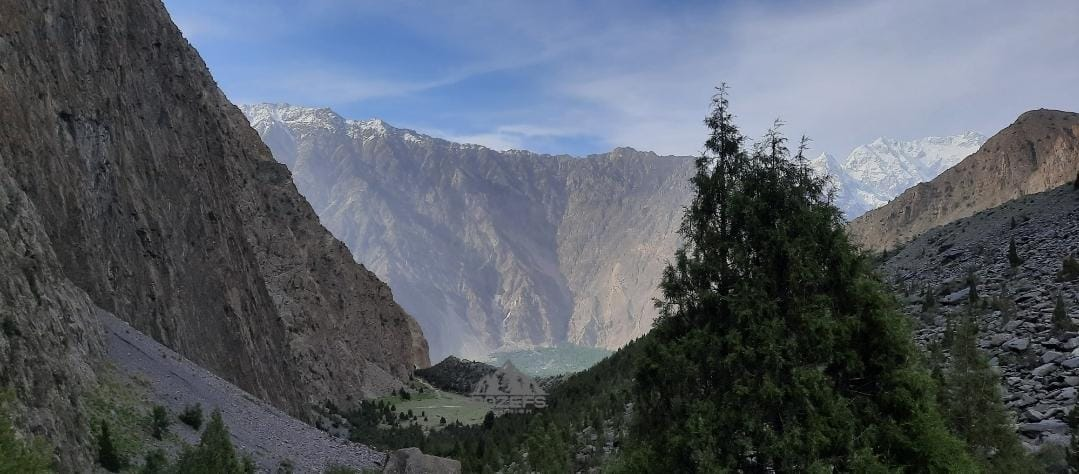 Rakaposhi Cricket Ground with Hunza Valley Mountains - Rozefstourism.com