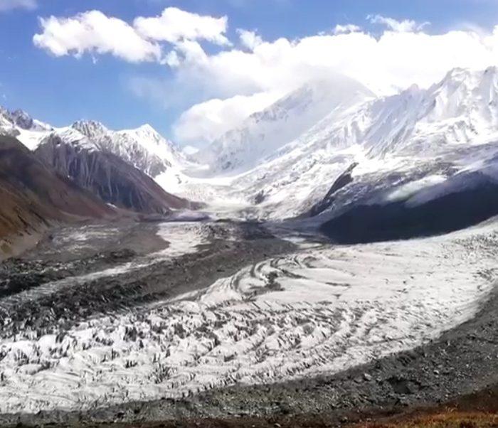 View of Rakaposhi and surrounding mountains from Rakaposhi Base camp