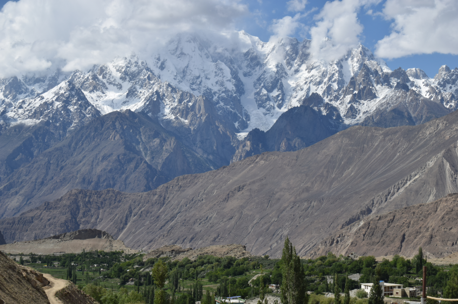 Hoper Valley with Snow covered Hunza Peaks in the Background - Rozefstourism.com
