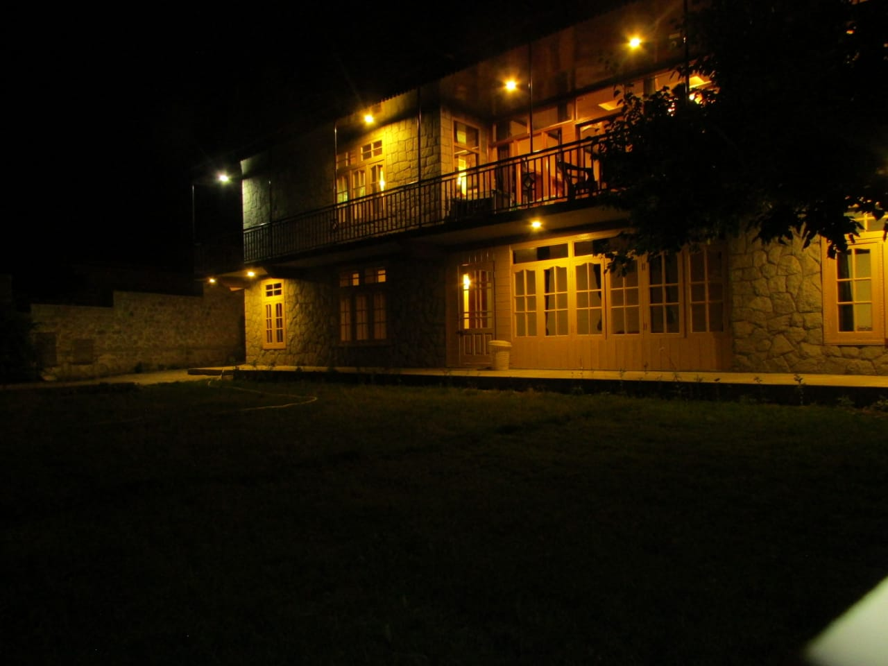 Hotel in Hunza at night