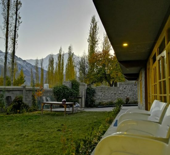 Hotel in hunza with amazing view of hunza mountains