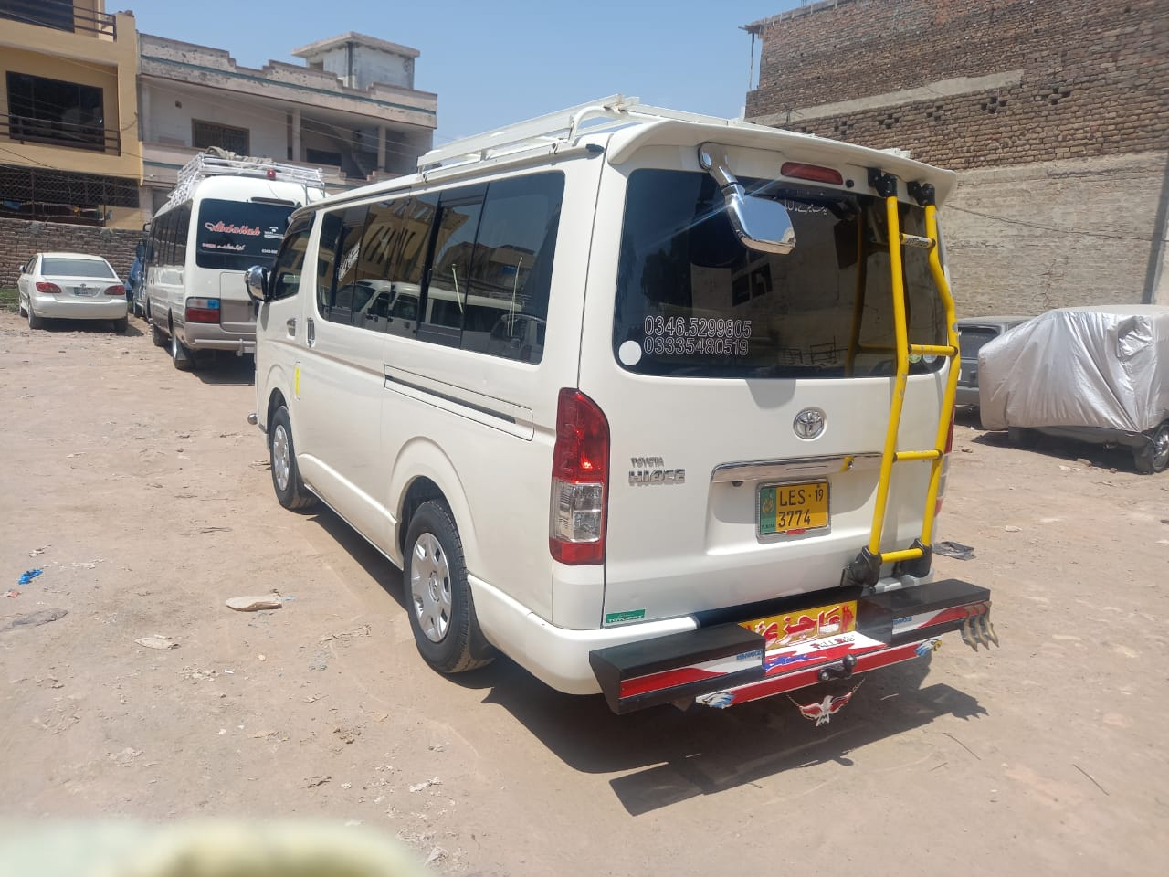 Rozefs Tourism's Toyota Hiace ready for tour to Hunza