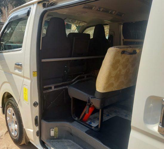 Toyota Hiace interior view