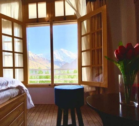 View of Hunza Valley from Hotel rom in Hunza