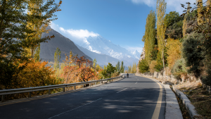 Hunza Valley in Autumn Season