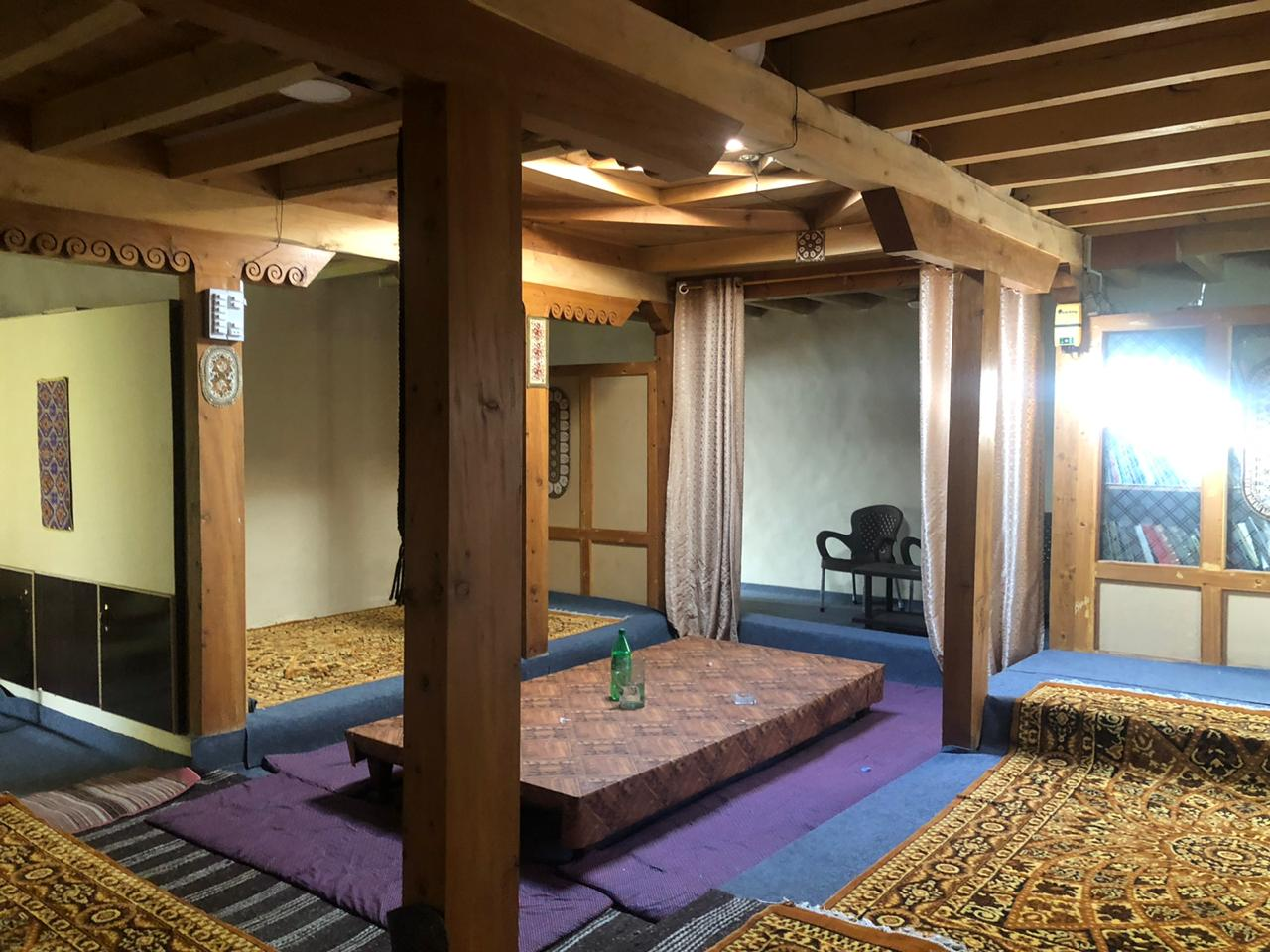 Traditional sitting hall of hotel in passu